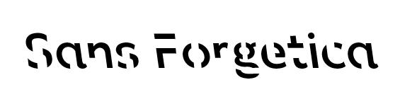 Sans Forgetica Schriftart
